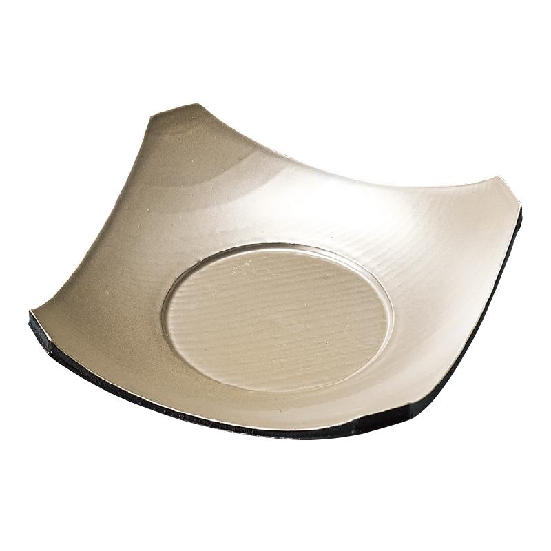 隅切茶碗蒸皿 シルバー 2-1740-16
