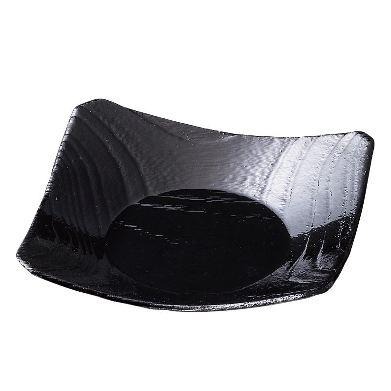 角桐杢目碗蒸皿 黒 2-1740-17