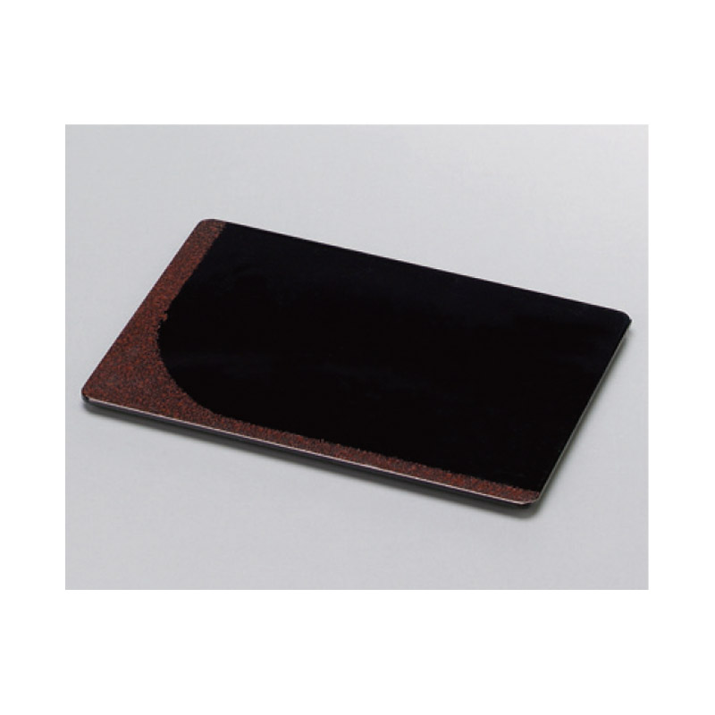 木製長角銘々皿 袖朱点点塗 2-1756-16
