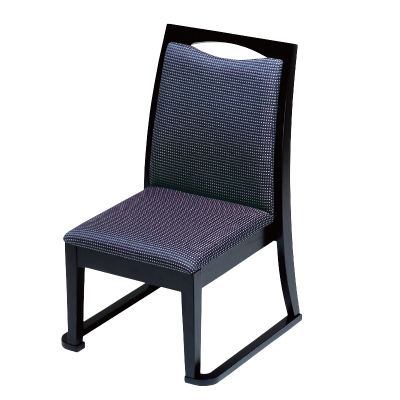 高座椅子 宝山(布)黒織 フレーム黒