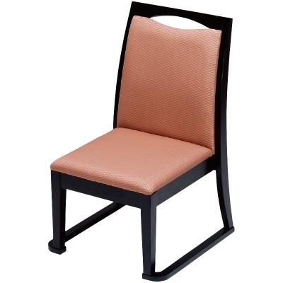 高座椅子 宝山(布)ベージュ フレーム黒
