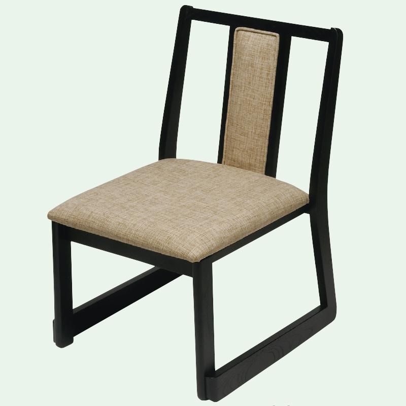 SH43 高座椅子 背立て型(布)白波 フレーム黒 2-1798-5