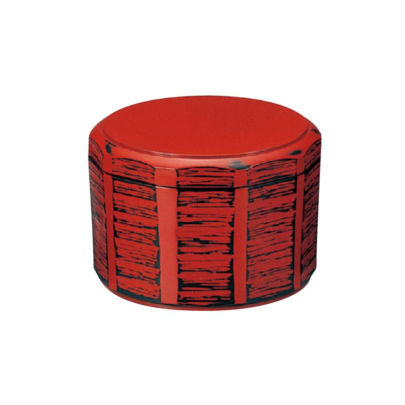 耐熱木彫飯器 根来(内黒)中 2-340-8