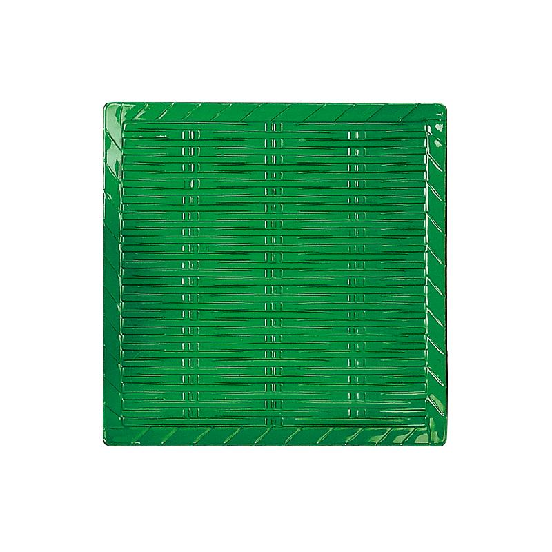 ABS竹角皿 グリーン 2-404-4