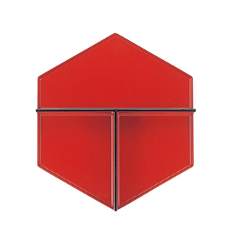 7寸六角弁当用T仕切 朱天黒 2-483-16