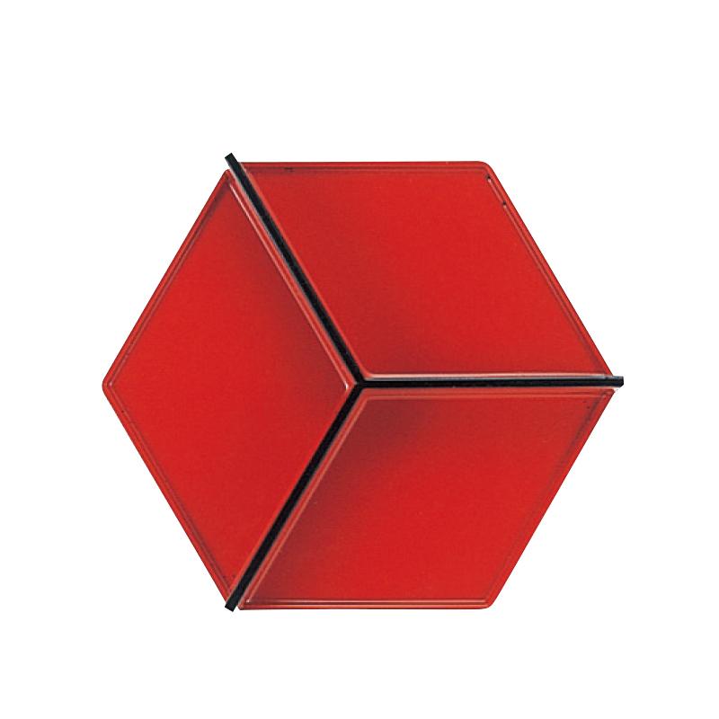 7寸六角弁当用Y仕切 朱天黒 2-483-17