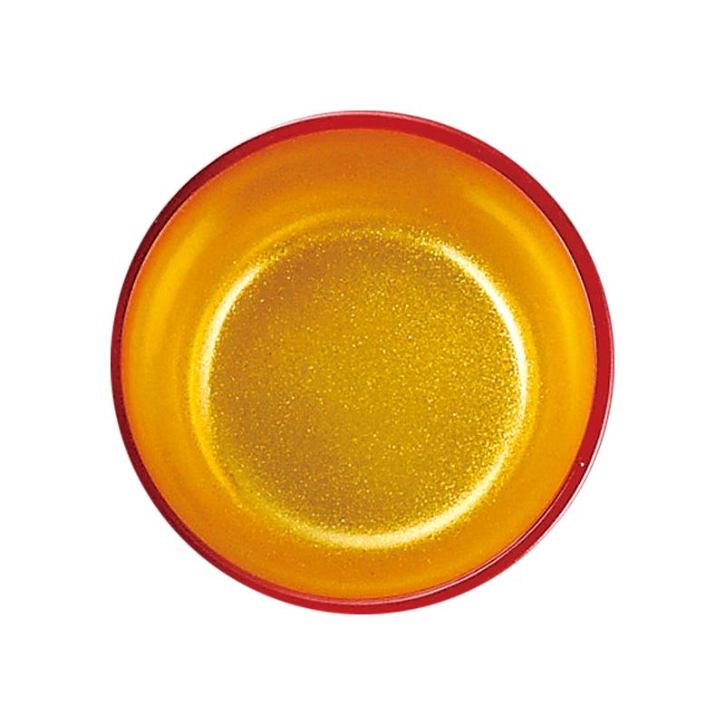 2.3寸丸小鉢 朱内金粉蒔 2-483-2