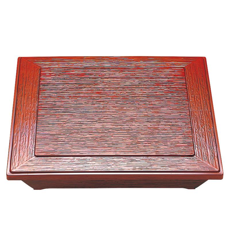 8.5寸 ダイヤ松花堂 根来 セット(仕切別)2-527-3