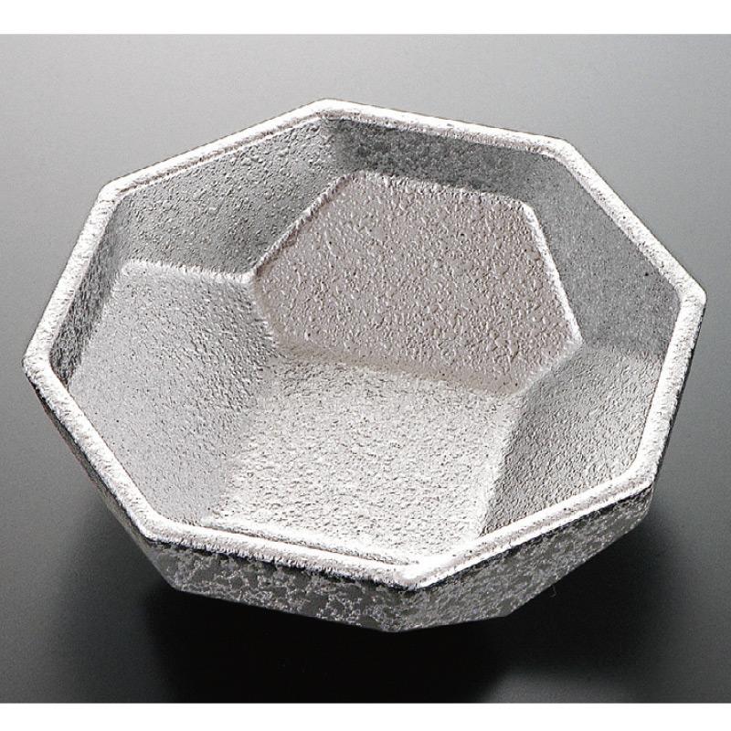 八角万華鏡小鉢 銀たたき 2-548-14