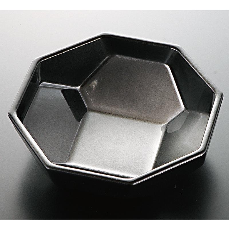 八角万華鏡小鉢 黒銀かすみ 2-548-18