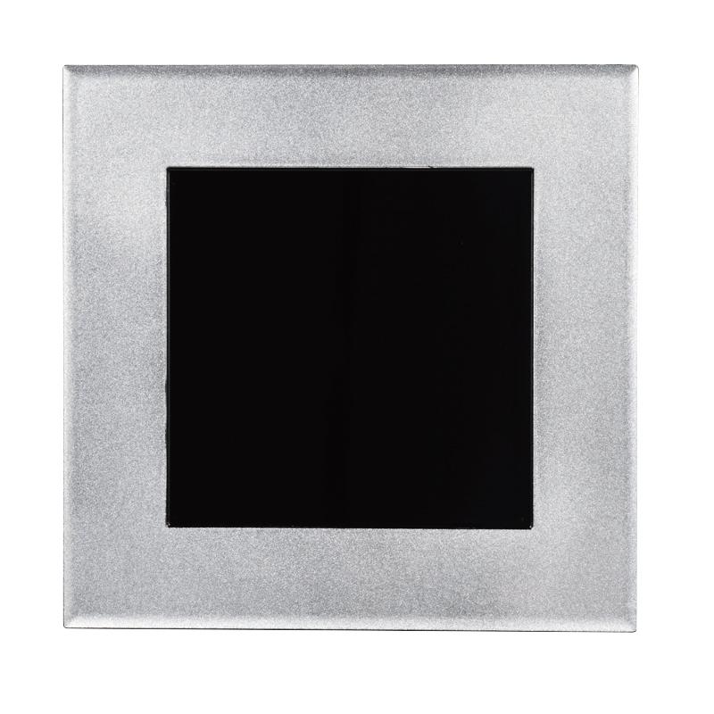 尺1懐石炉縁盆 銀彩内黒 2-6-9
