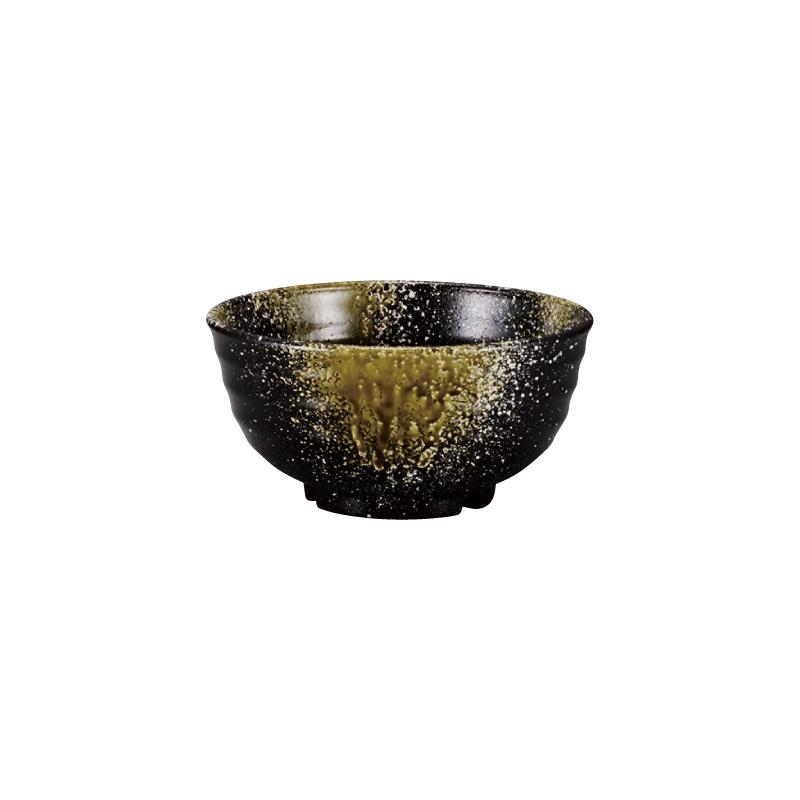 PBT荒彫鉢 織部流し塗 15cm 2-786-2