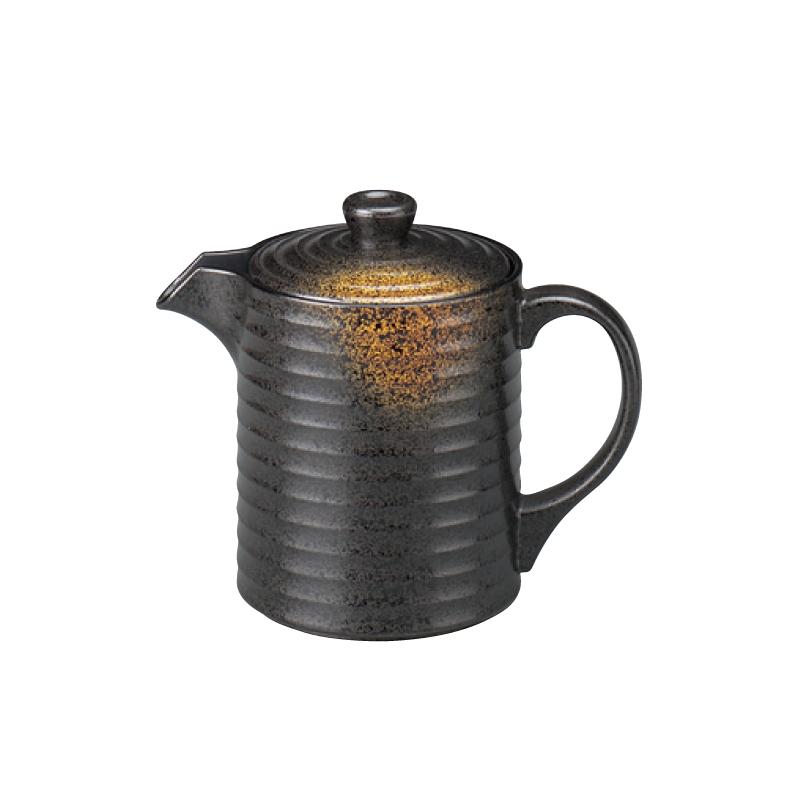 樹脂製 やすらぎ汁次 焼き締め 中(500cc) 2-879-13
