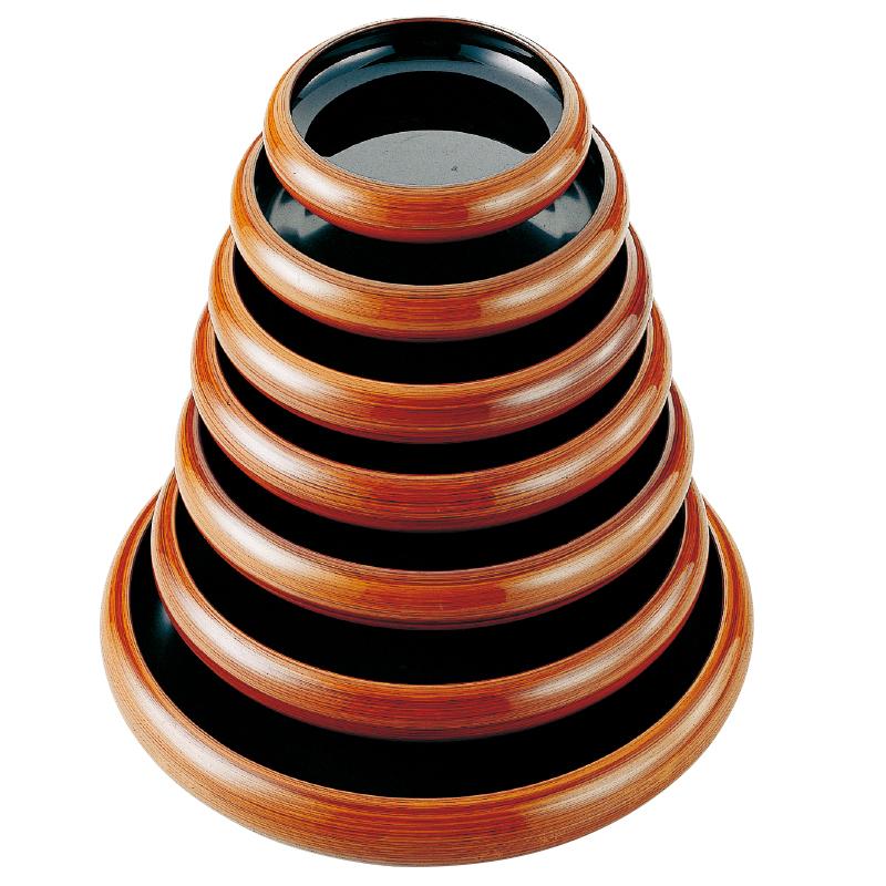 寿冠鉢 柾目木目 2-942-6 尺3