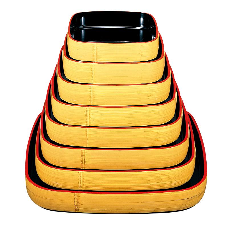 竹型角桶 クリーム刷毛目塗 2-949-7 3尺(7人用)