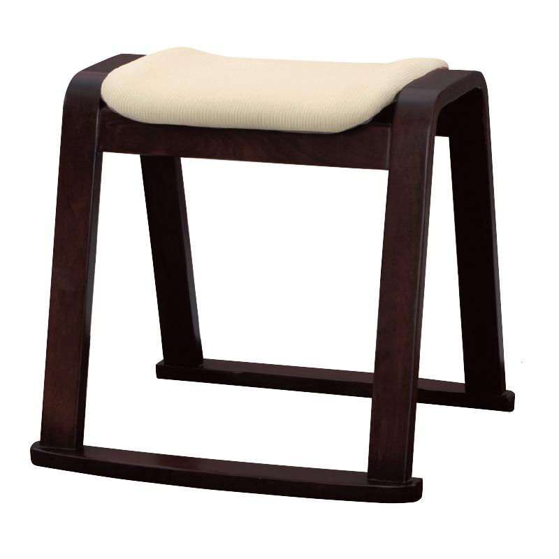 木製スツール アイボリー(合成皮革)22P-73-1